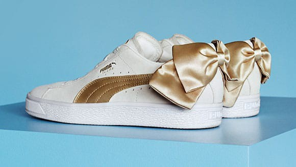 Suede Bow Varsity