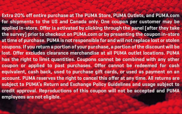0c8e2134c7 PUMA Customer Survey | PUMA.com