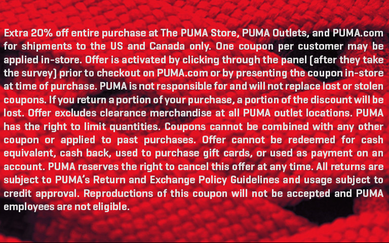 PUMA Customer Survey | PUMA®
